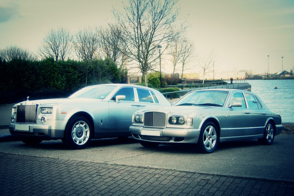 silver phantom and silver bentley arnage